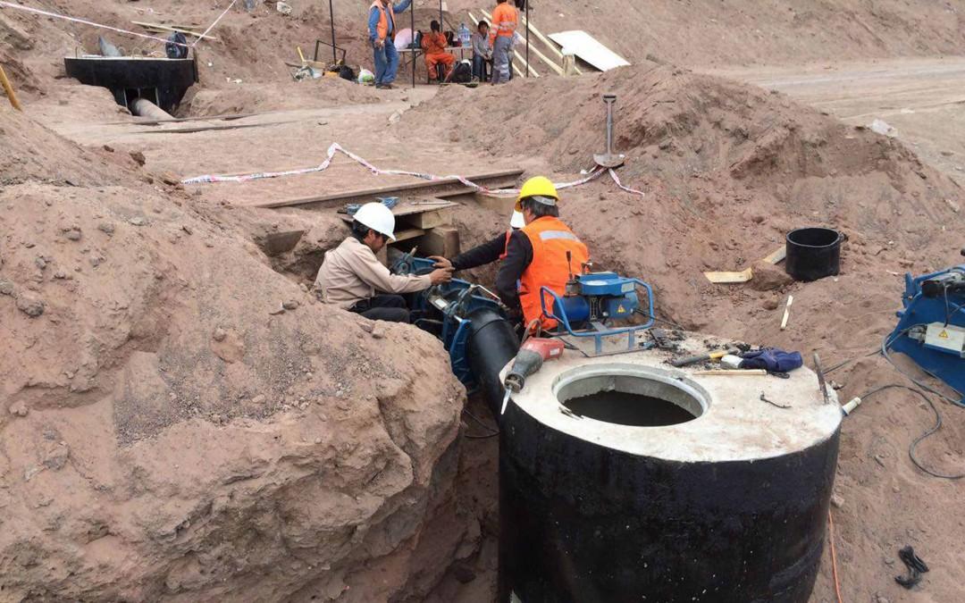 90% de avance en trabajos de canalización de aguas lluvias en la Coviefi.
