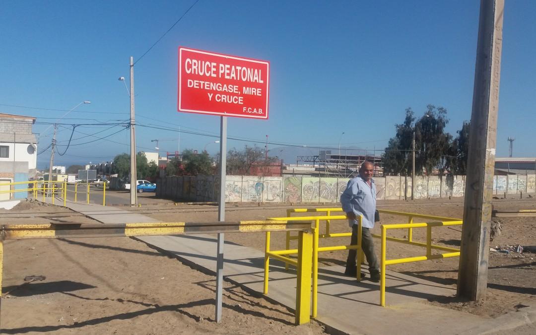 Avanzamos en construcción, mejoramiento y habilitación de pasos peatonales