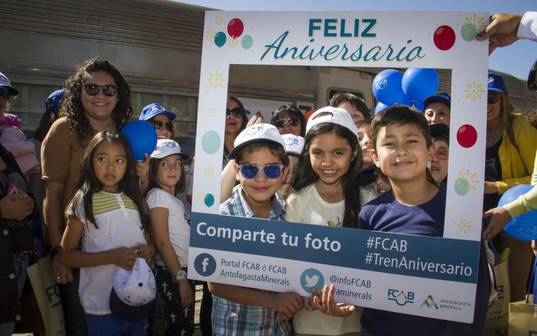 Más de 500 vecinos en Tren Aniversario Calama