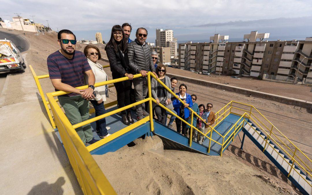 Nuevo paso peatonal para vecinos de Parque Inglés y Altos Gran Vía de Antofagasta