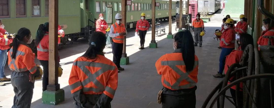 Aprendices en FCAB:  18 mujeres inician programa de formación como operadoras ferroviarias