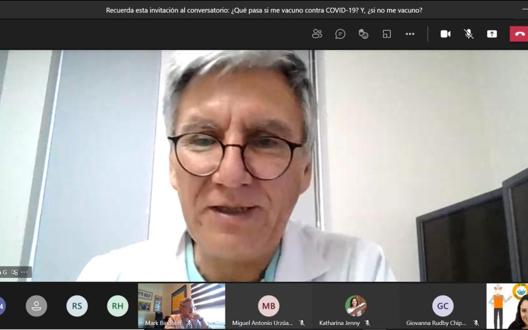 Especialista despejó dudas sobre la vacuna contra el COVID-19