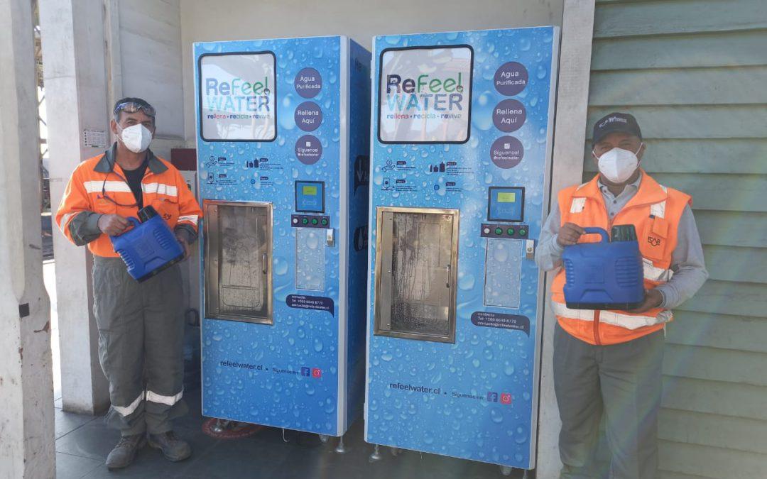Nuevos dispensadores de agua purificada para personal de trenes