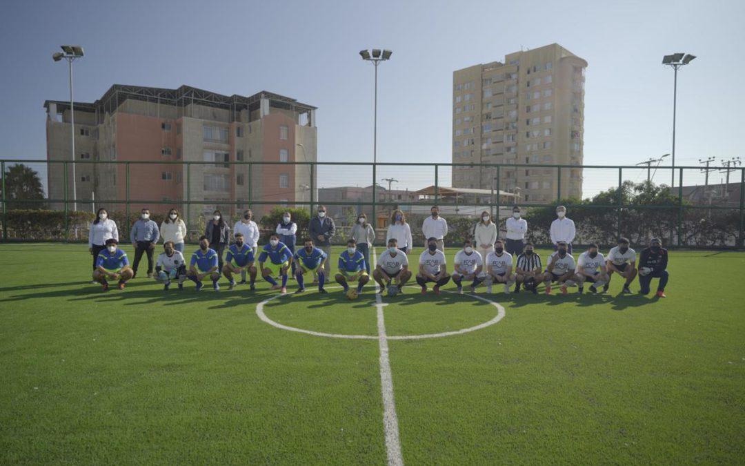 Con un partido amistoso reabrimos el Complejo Deportivo
