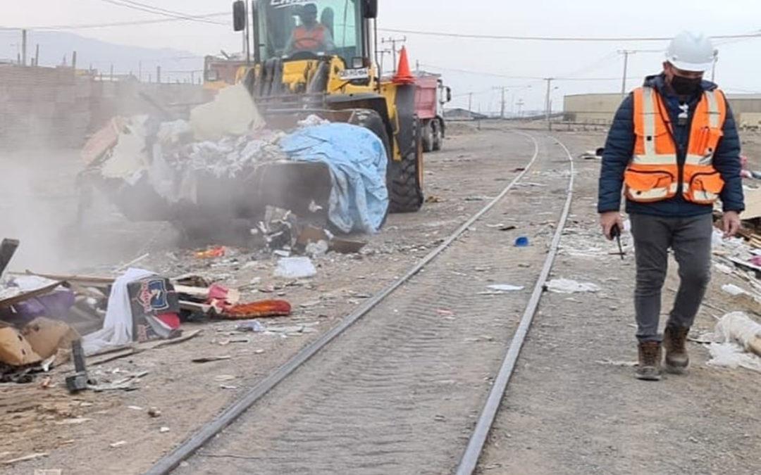 208 toneladas de basura fueron retiradas de la faja ferroviaria